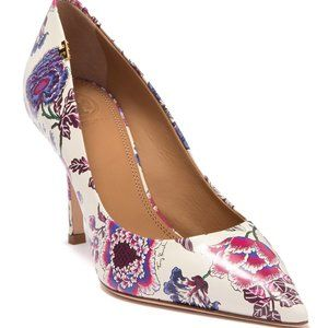 **HP** Tory Burch Penelope Floral Leather Pump 7